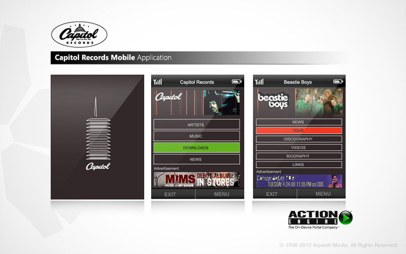 Capitol Records Mobile App | Aquanti Media